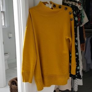 Mustard sweater by anthropologie